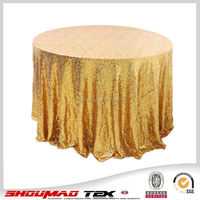 manufacture gold sequin hand embroidery designs tablecloth on sale