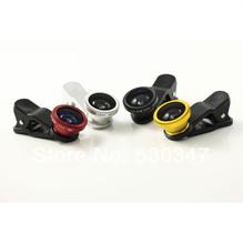Pro Quality Universal Clip 0.67X wide angle+ fisheye + macro lens for iphone6,fisheye lens for samsung