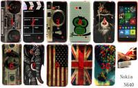 New camera dollars flag printing Flower TPU Case Cover for Microsoft Nokia Lumia 640