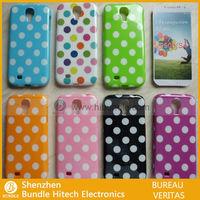 Shenzhen factory fashion colorful Luxury TPU Polka Dot case for samsung galaxy s4 i9500