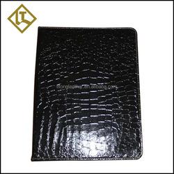 metal ring binder document case,leather notebook clip file folder