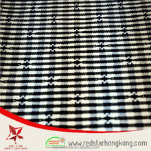 2015 Collection Navy Blue White Dobby Checks Fabric