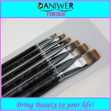 2015 Professional 6pcs flat Artists paint brushes Synthetic paint brush set free samples
