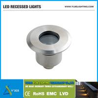 YJQ-0022 IP67 1W min round 12 volt / 12v LED recessed deck light