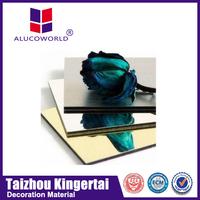 Alucoworld acp sheet 4mm acrylic decorative wallboard panels mirror finish aluminum construction material