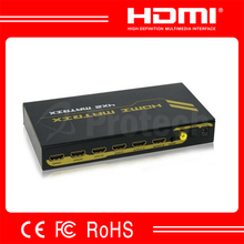 High Speed 4x2 HDMI Matrix With Coaxial Made In China 3D HDMI Matrix 1080P Support 6.75Gpbs Bandwidth
