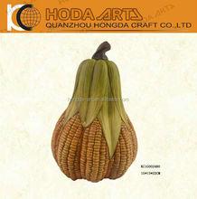 Harvest Festival Craft Ceramic Corn Shape Pumpkin for Harvest decor