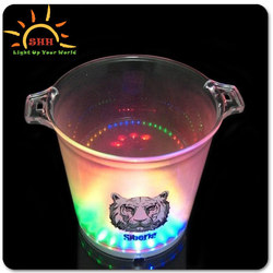 China novelty LED ice bucket with colorful lights for all party