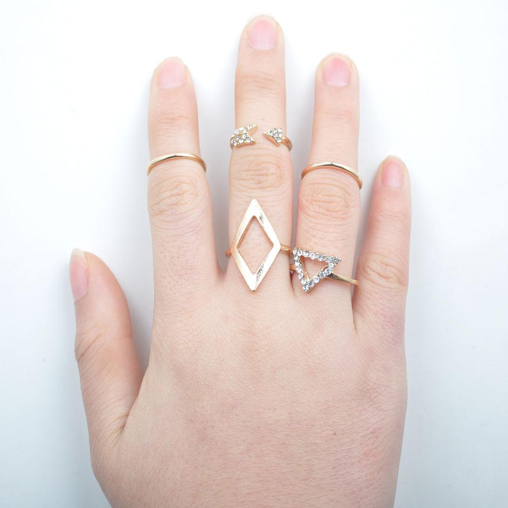 2015 Latest Design Jewelry Wholesale Fashion Metal Gold Midi Knuckel ...