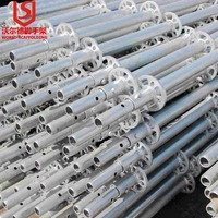 Factory Price Painted Scaffolding Ringlock System components ledger,standard,base collar,spigot,transom,brace