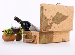 New products for china wholesale wine carrier Handmade Vintage wine carrier, leather wine case leather wine bottle case