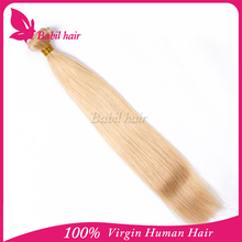 Qualified Long blond silky straight white color hair extensions germany for white women