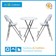Factory direct sale small round mini palstic bar table