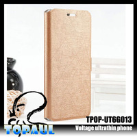 Ultra thin Classic PU leather folio with hard PC plastic stand case for iphone6