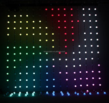 led video curtain, SMD5050 LED RGB full color pixel ball stage curtain light