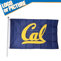 2015 Promotion polyester American College sport game Hand Waving Flag/ Hand held flag