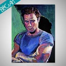 Impressionist oil painting wall art strong man portrait famous people figure canvas painting