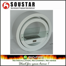 High quality factory China round indoor used fireplaces