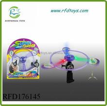 Pull line flying saucer children toy flying disk plastic pull line disk