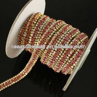 Wholesale new design Beautiful Fashion Crystal rhinestone trimming accessory seasofbeauty