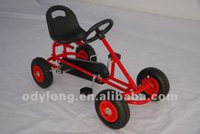 manual assembly kid's pedal go kart with handbrake F90A