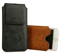 Sleeve Bag Case For Iphone 6 Plus Genuine Leather Magnetic Closure Carrying Bag Pouch Cover
