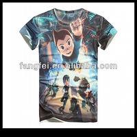 Free shipping Atom print casual t shirts for men