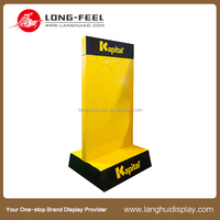 customer design cardboard paper table top counter display stand for baby born card in hospital/ small PDQ for business