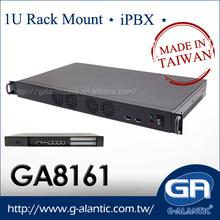GA8161 barebone 1U Rack Mount Network Cabinet iPBX and VoIP Server