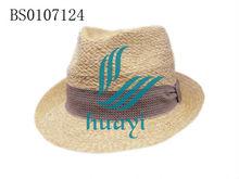 hot selling mens raffia braid straw hats