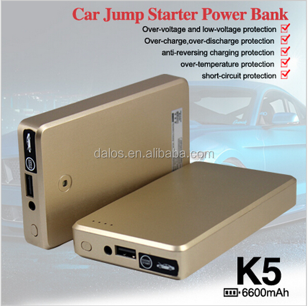 Super slim car jump starter emergency tools multifunction power