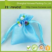 custom design custom silk cheap plain blank drawstring bags