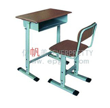 Single School Table One Drawer UnderTable, Student Chair with Desk Top