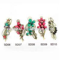 2012 fancy flower rhinestone hair barrette,fashion hair barrette,crystal hair accessory