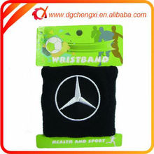embroidery car brand logo knitted basketball black cotton wristband in 8*10cm / 8*8cm/7*8cm