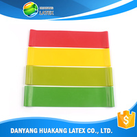 China factory wholesale Colorful latex stretching band/resistance sport band