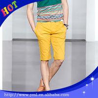 twill 100% cotton hot men shiny shorts