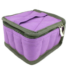 Essential oil carry bag for 16 vials can holds 5/10/15ml bottles in stock MOQ is 50pcs