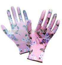 N1521-8 13G PRINTING POLYESTER NITRILE COATED GLOVES