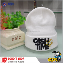 Promotional Winter Fashion Plain Solid Color Custom Man Woman Wool Knitted Beanie Hat