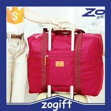 ZOGIFT Korean waterproof nylon foldable travel bag; Luggage Travel Organizer Bag
