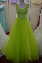 Three-dimensional flower elegant green wedding dress Luxury bride evening dress