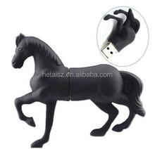 Factory price!!Black Horse USB Flash drive animal shape 8GB USB 2.0 Memory Flash Pen Drive New