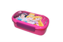 food grade kids plastic lunch box, pink lunch box with spoon , divider pp lunch box
