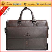 Promotional fashion men leather computer briefcase