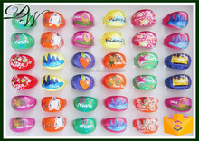 wholesale party promotions Fashion Spring Style Acrylic kids ring , wedding jewellery