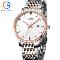 Stainless steel back water resistant clock wrist watch + Montres