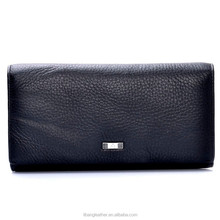 zip cowhide leather wallet man coin purse