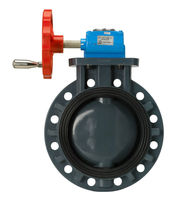 CHEMICAL RESISTANCE PP BUTTERFLY VALVE(GEAR TYPE)