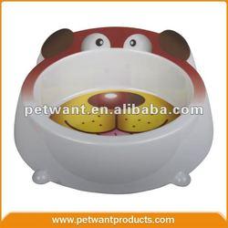 Original Manufacture of Dog Face Shaped Print Melamine Bowl